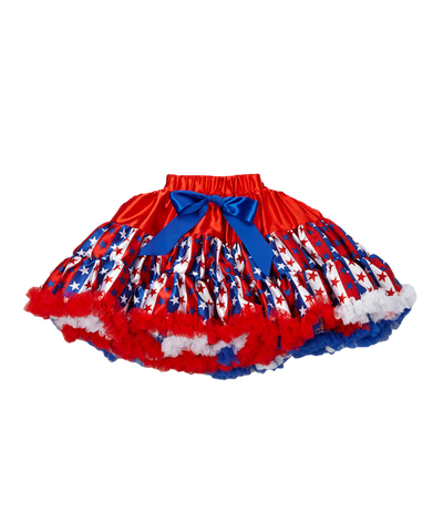 Stars & Stripes Satin Pettiskirt Tutu