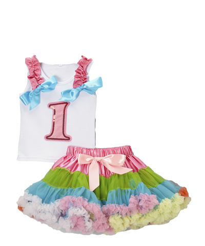 One 1 Birthday Pettiskirt & Tank Tutu Set
