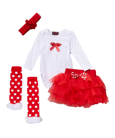 Red Bow Bodysuit Set