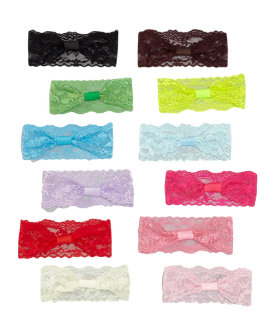 12pc Lace Headband Set