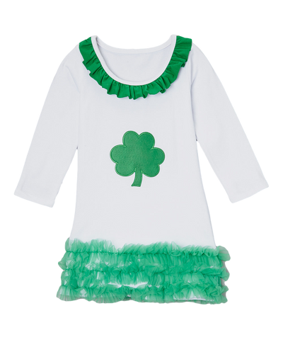 Green Ruffle Lucky Shamrock Dress
