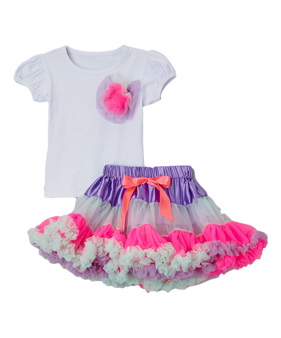 Cotton Candy Pettiskirt & Top Set