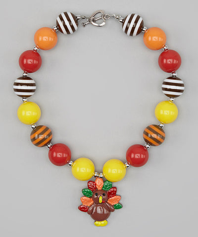 Chunky Thanksgiving Turkey Necklace