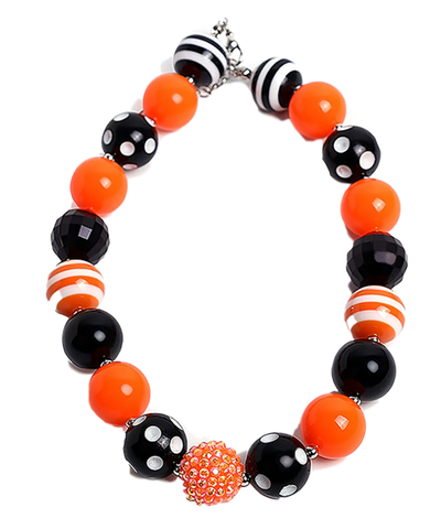 Orange and Black Halloween Necklace
