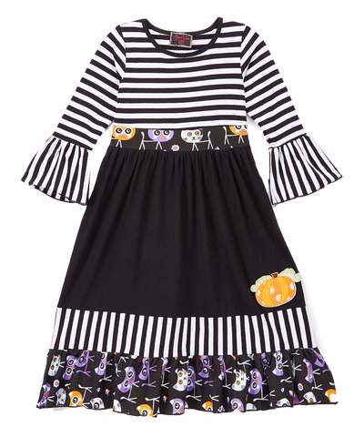 Black Pumpkin Ruffle Dress