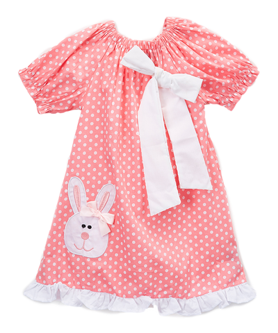 Pink & White Bunny Dress