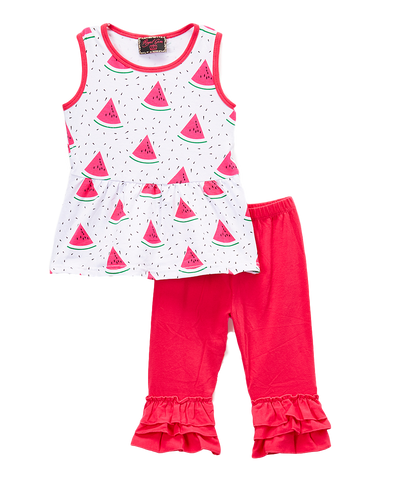 Watermelon Top & Pants Set