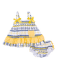 Navy and Yellow Nautical Swing Top & Diaper Cover Set