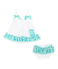 Teal Chevron Swing Top & Diaper Cover Set