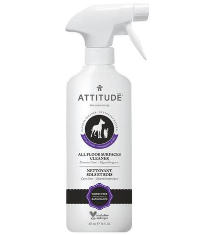 ATTITUDE Furry Friends All Floor Surfaces Cleaner For Pets / Coco Lime