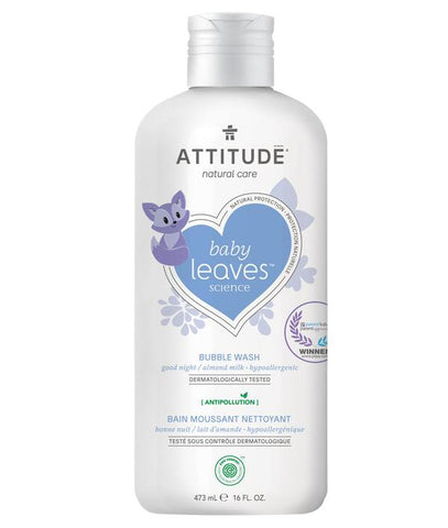 ATTITUDE Baby Leaves Natural Bubble Wash / Almond Milk