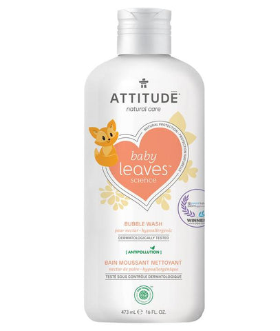 ATTITUDE Baby Leaves Natural Bubble Wash / Pear Nectar