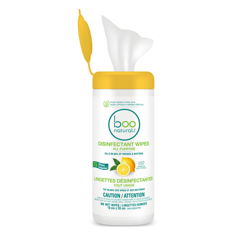 Boo Bamboo Disinfectant Wipes / Lemon