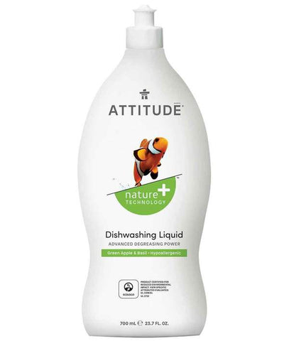 ATTITUDE Nature + Dishwashing Liquid / Green Apple & Basil