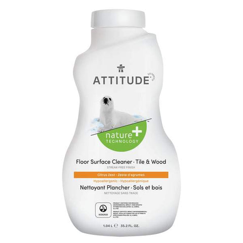 ATTITUDE Nature + Floor Cleaner For Tile & Wood Floors / Citrus Zest
