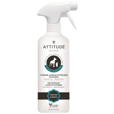 ATTITUDE Furry Friends Carrier, Cage & Litter Box Cleaner / Fragrance Free