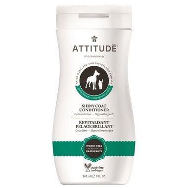 ATTITUDE Furry Friends Shiny Coat Conditioner For Pets / Coco Lime
