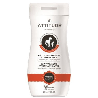 ATTITUDE Furry Friends Soothing Oatmeal Conditioner For Pets / Fragrance Free