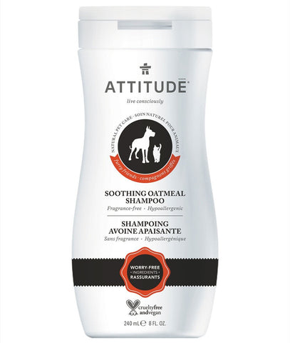 ATTITUDE Furry Friends Soothing Oatmeal Shampoo For Pets / Fragrance Free