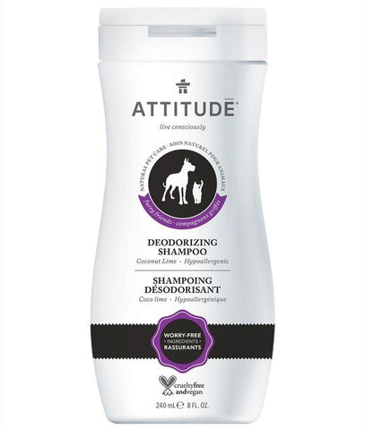 ATTITUDE Furry Friends Deodorizing Shampoo For Pets / Coco Lime