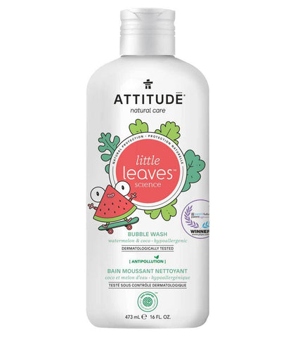 ATTITUDE Little Leaves Bubble Wash / Watermelon & Coco