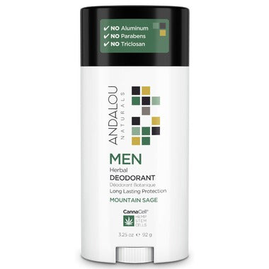 Andalou Naturals Men Herbal Deodorant / Mountain Sage