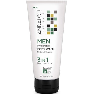 Andalou Naturals Men Invigorating Body Wash 3-in-1