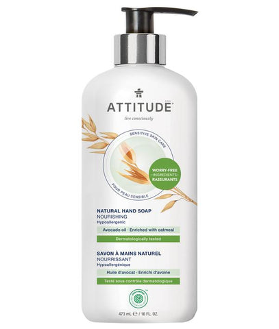 ATTITUDE Nourishing Hand Soap for Sensitive Skin / Avocado Oil