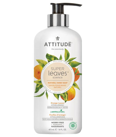 ATTITUDE Super Leaves Hand Soap / Orange Leaves