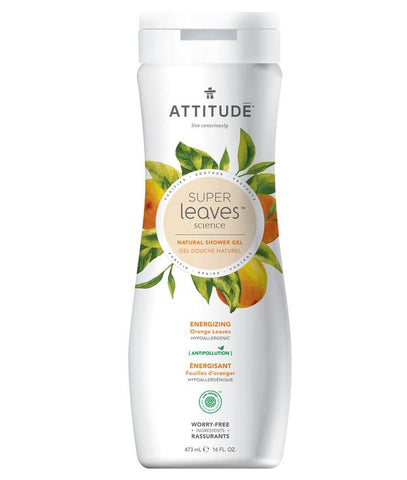 ATTITUDE Super Leaves Natural Shower Gel / Energizing