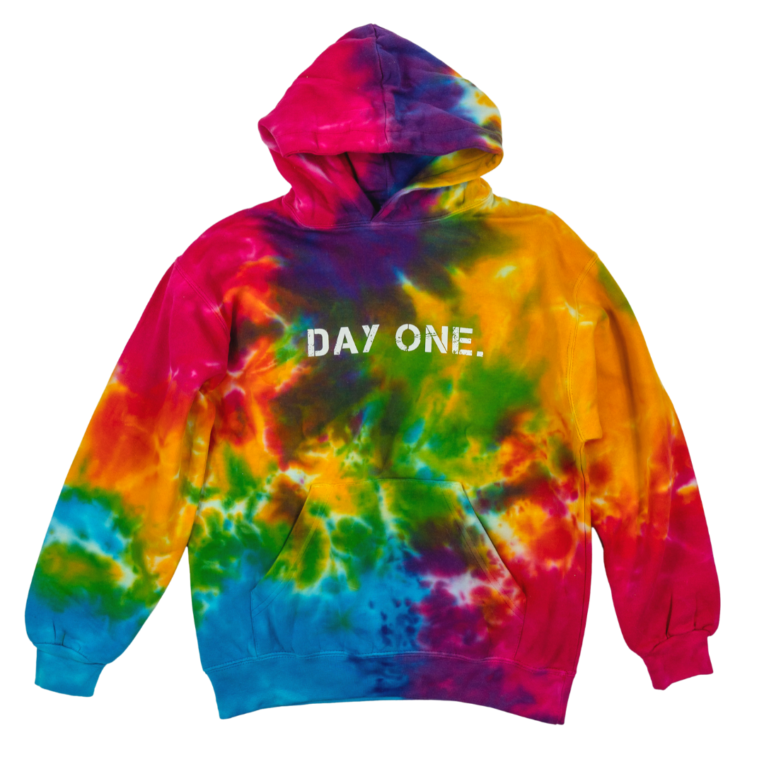 Rainbow Splash Tie-Dye Hoodie (Youth)