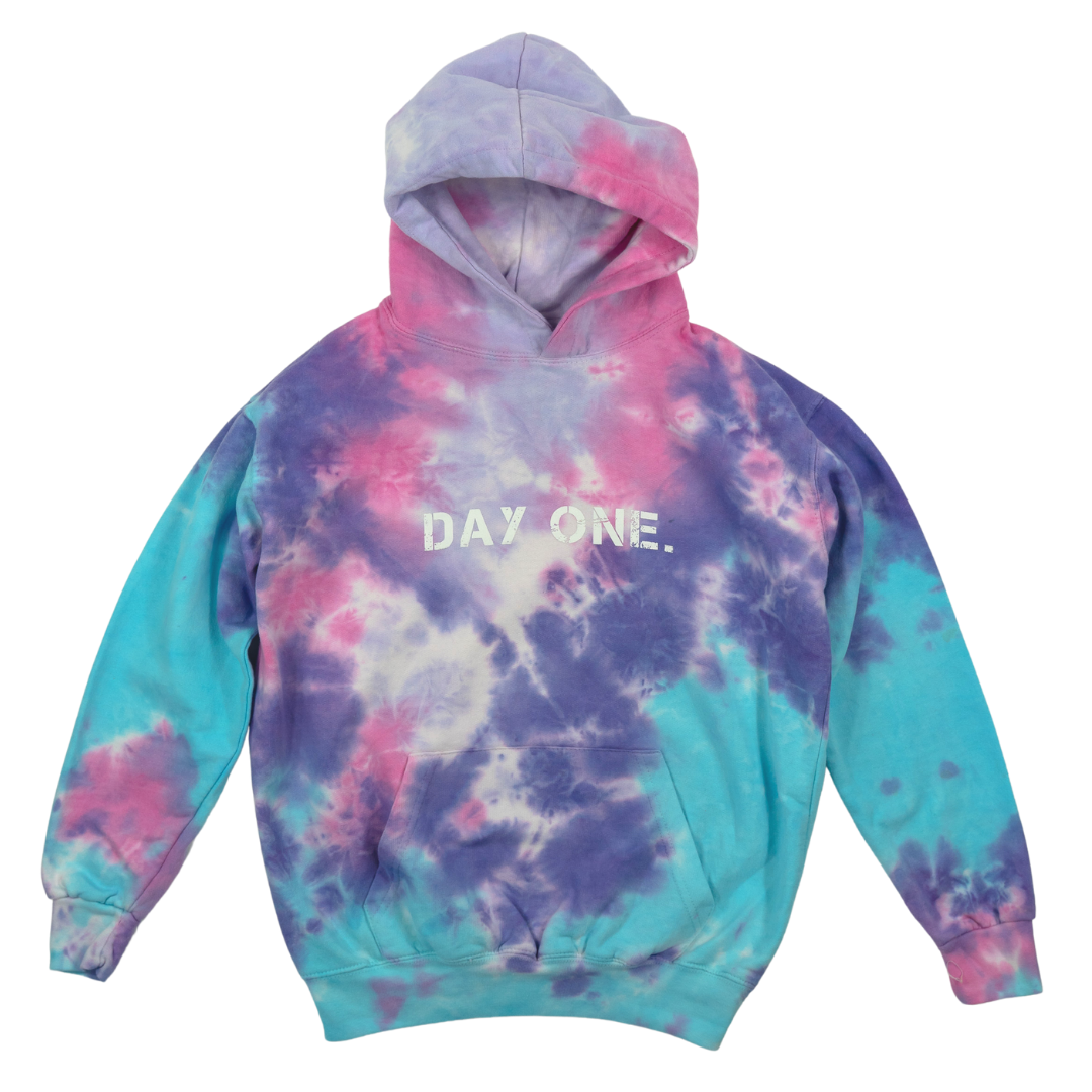 Cotton Candy Tie-Dye Hoodie (Youth)
