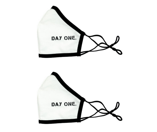 Face Mask 2-Pack (White & White)