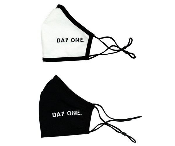 Face Mask 2-Pack (White & Black)
