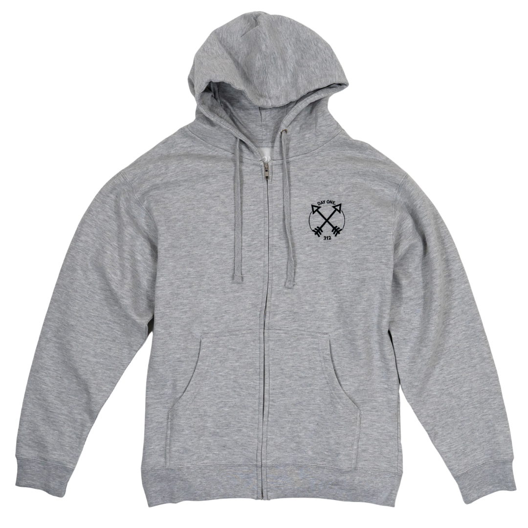 Unity Arrows Embroidered Full Zip Hoodie (Unisex)