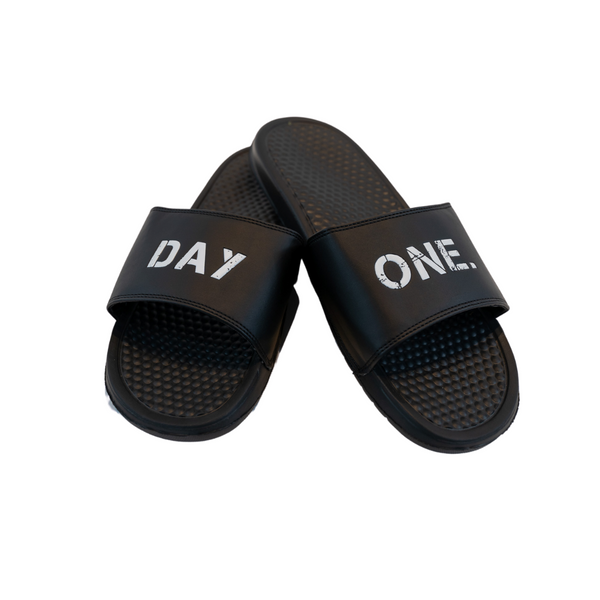 Distressed Logo Black on Black Slides