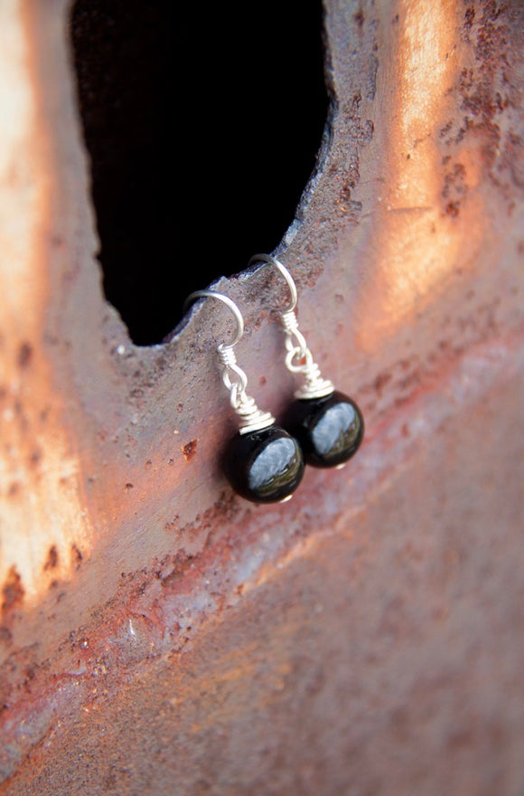 Jewelry Sale! Sterling Silver Onyx Earrings