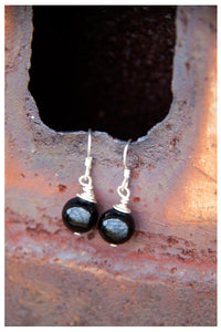 SALE!!! STERLING SILVER ONYX EARRINGS