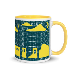 11 oz Landscapes Mug with Yellow Color Inside