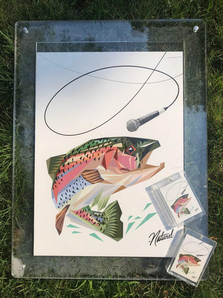 """Mic Trout"" Over Sized Companion Card"