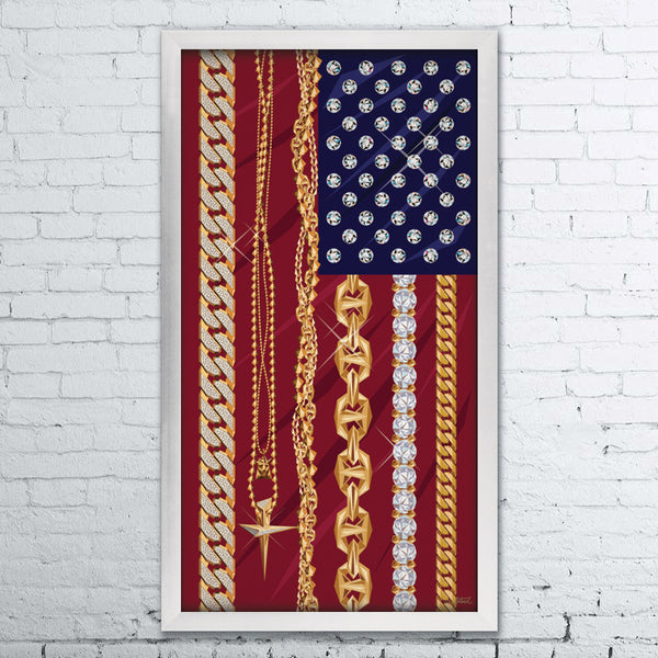 """America's Most Flaunted"" 20""x38"""