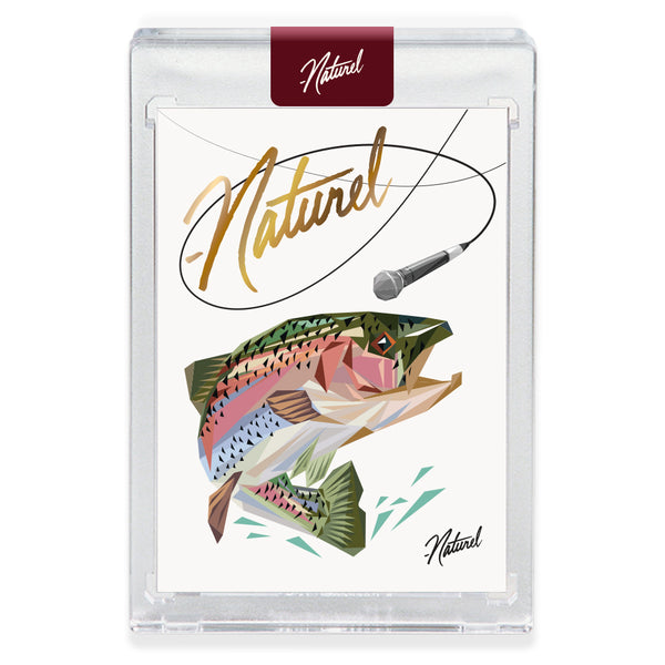 """MIC TROUT"" GOLD AUTOGRAPH Companion Card Edition of 27"
