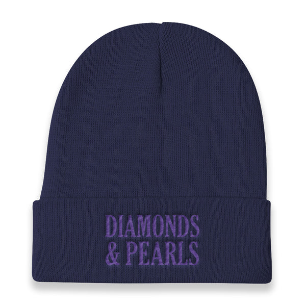"""DIAMONDS & PEARLS"" Knit Beanie"