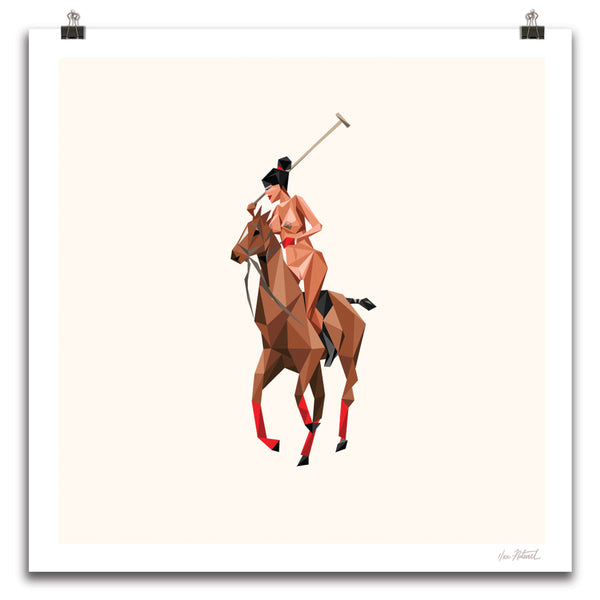 """Thoroughbred"" 24""x24"" Off-White Archive Edition"