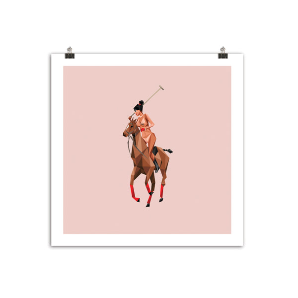 """Thoroughbred"" 12""x 12"" Pink Archive Edition"