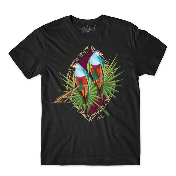 """Totot Bird"" S/s Black Tee Shirt"