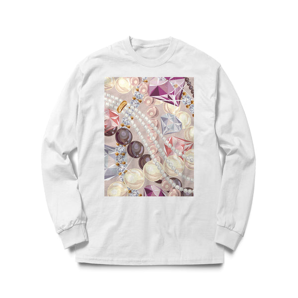 """DIAMONDS & PEARLS"" Long Sleeve T-Shirt"