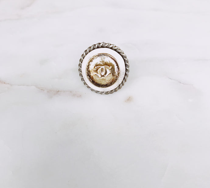 Gold Designer Button with a Twist