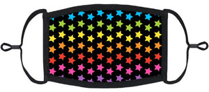 Rainbow Stars Fabric Face Mask
