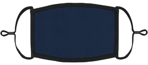 YOUTH SIZE - Navy Blue Fabric Face Mask